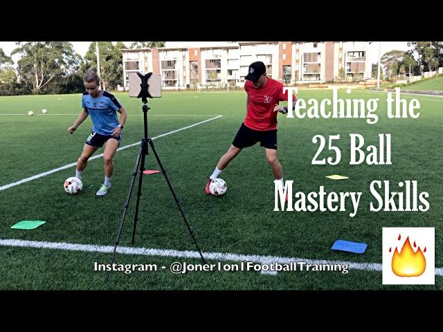 Teaching the 05 Ball Mastery skills to Pro Player Georgia Joner 0on1