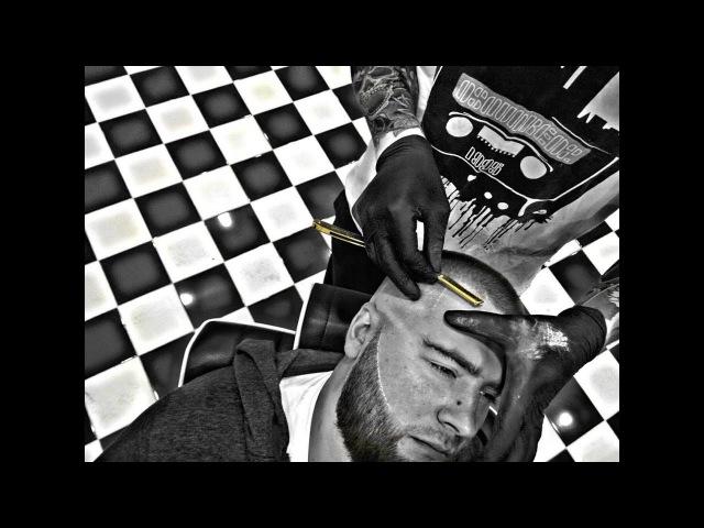 Урок для парикмахеров/как научиться брить шаветкай(опасной бритвой)/Секреты о к ...
