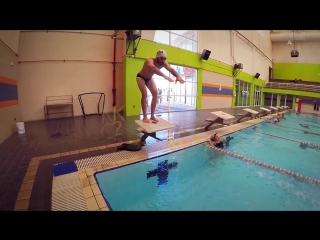 How to do a relay start. For competitive swimming