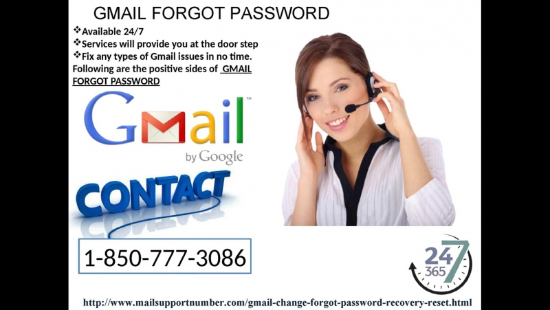 Avail Unlimited Gmail Forgot Password with Just a Phone Call 1-850-777-3086