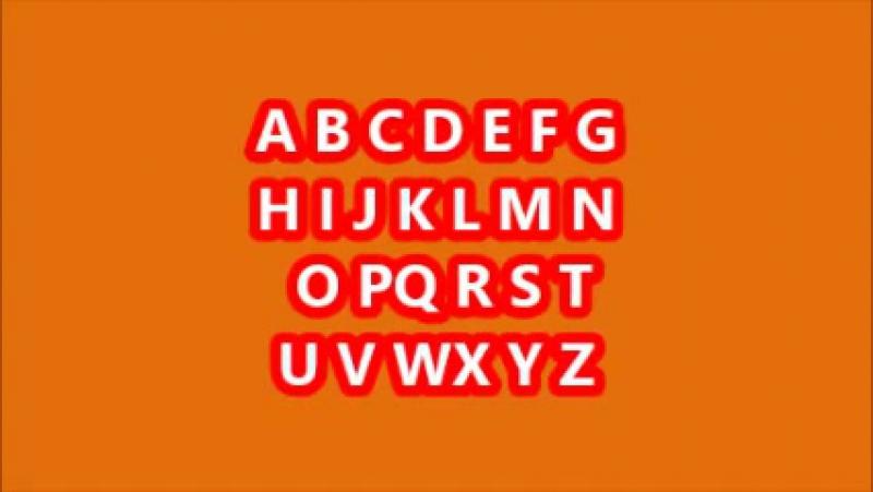 Песня про английский алфавит - Song 'A - an apple...'