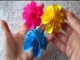 Делаем красивые цветы из бумаги