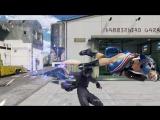 Геймплей за Ноктиса из Final Fantasy 15 в Tekken 7.