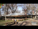У Херсоні невідомі особи незаконно встановили величезну конструкцію в центральному парку