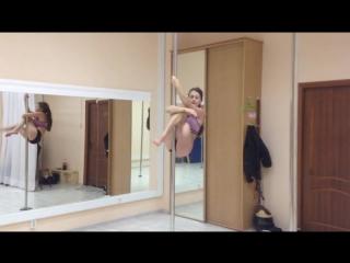 Дубровская Ольга.pole dance show solo (любители) г.Красноярск