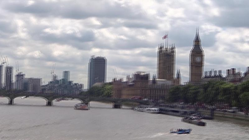 Великобритания - вестминстерский дворец вид с моста