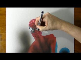 Рисуем Человека-паука (time-lapse)