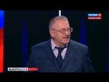 Собчак плеснула Жириновскому водой в лицо. Скандал в прямом эфире