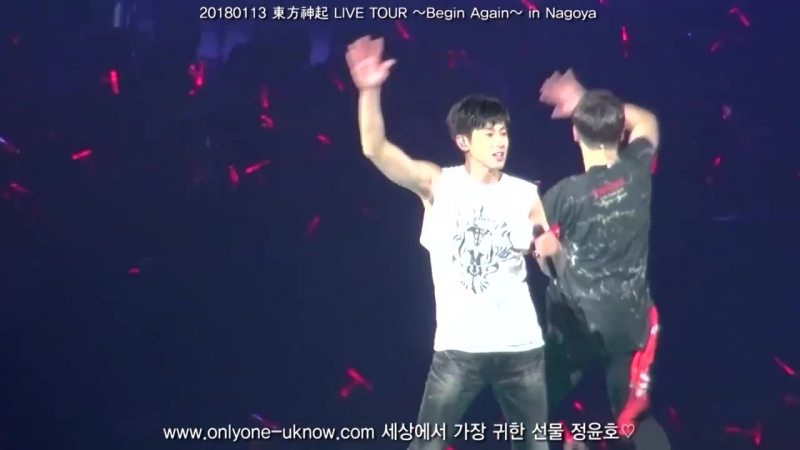 [fancam] 20180113 東方神起 LIVE TOUR _Begin Again_ in Nagoya-Somebody to Love [유노윤호,