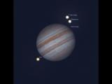 Интересные явления в системе спутников Юпитера 29 декабря 06:25 - 07:35 мск