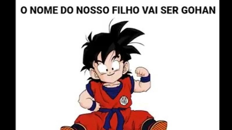 O NOME DO NOSSO FILHO VAI SER GOHAN