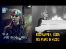 BTS SUGA playing piano and making music