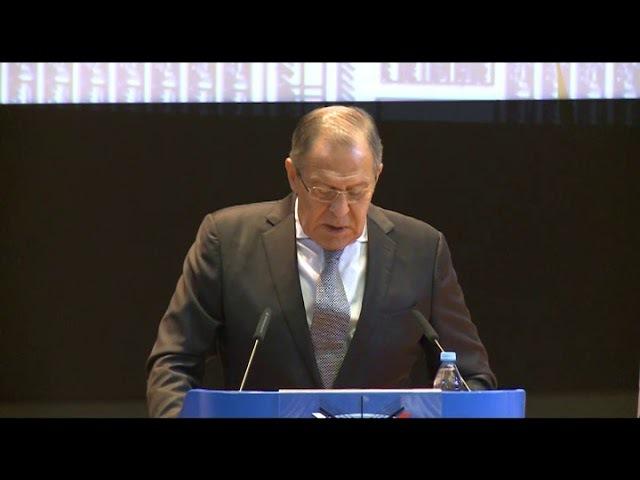С.В.Лавров выступает в МГИМО и отвечает на вопросы студентов
