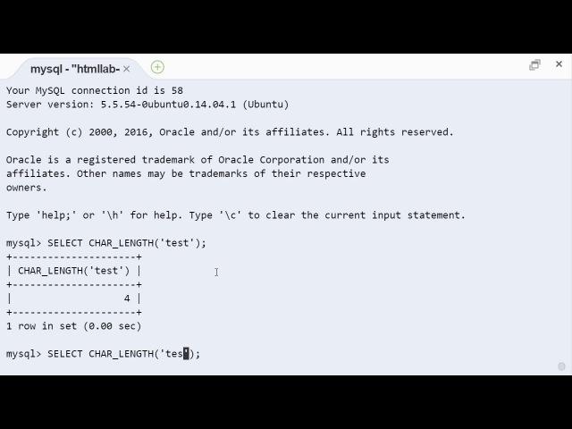 MySQL char_length