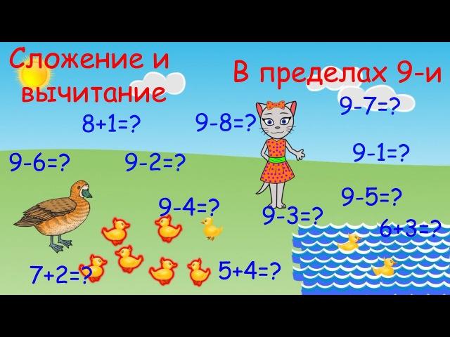 Математика с кисой Алисой Урок 8 Сложение и вычитание в пределах 9 и 0