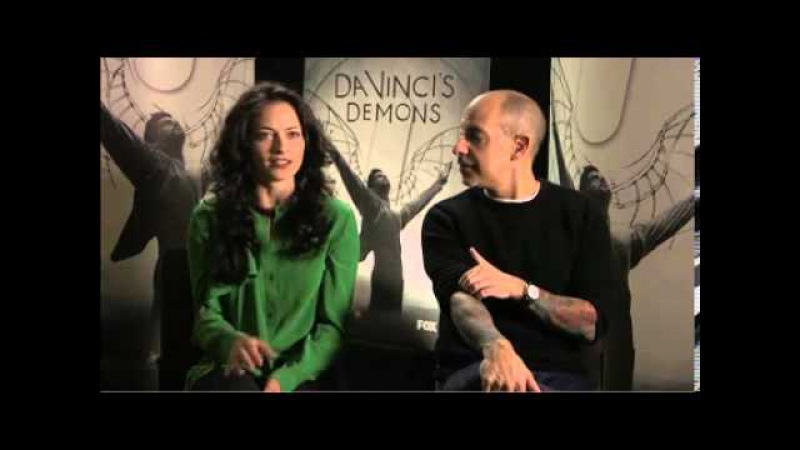 Lara Pulver and David S. Goyer on Da Vincis Demons