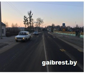 г.Береза: очередная дорожная авария на пешеходном переходе