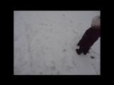 Что можно делать весенним днем? Конечно же.... лепить снеговика!!!!!!