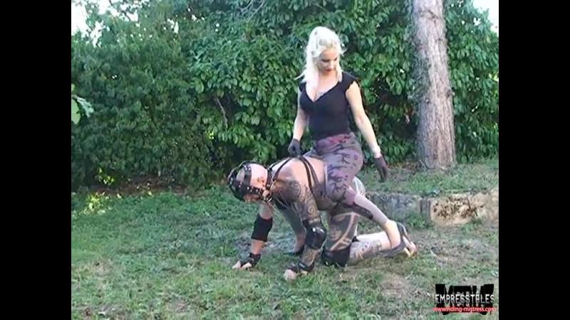 Mistress ride outdoor ponyboy