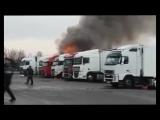 Брест, горит фура (10.03.2018)