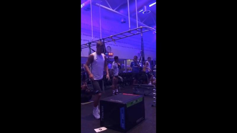 Тренировка «Зенита» в тренажерном зале