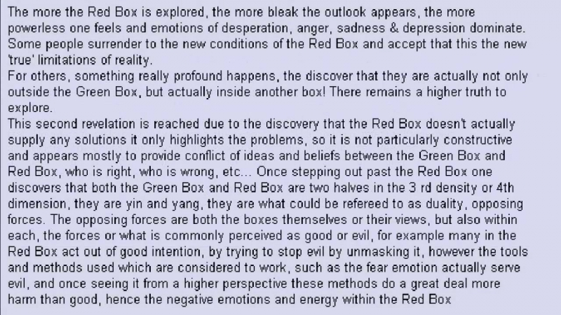 The 4 Boxes of Reality