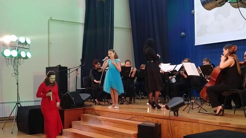 Афина с МаринойНиколаевной Самковой и камерный симфонический оркестр Новая музыка