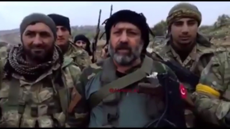 Afrin II This hill was captured this morning, footage of 6 hours ago from Commander Hisham Abu Tayfour from Liwa Osoud Al-Fatih.