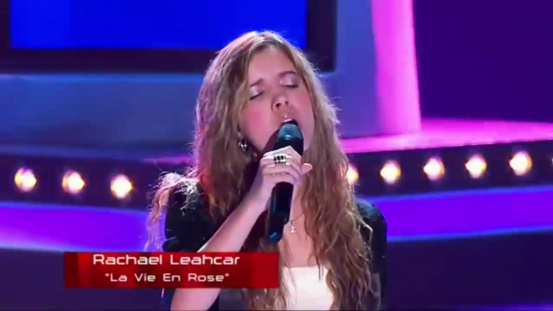 Необычный ТЕМБР голоса Rachael Leahcar La Vie En Rose The Voice Australia