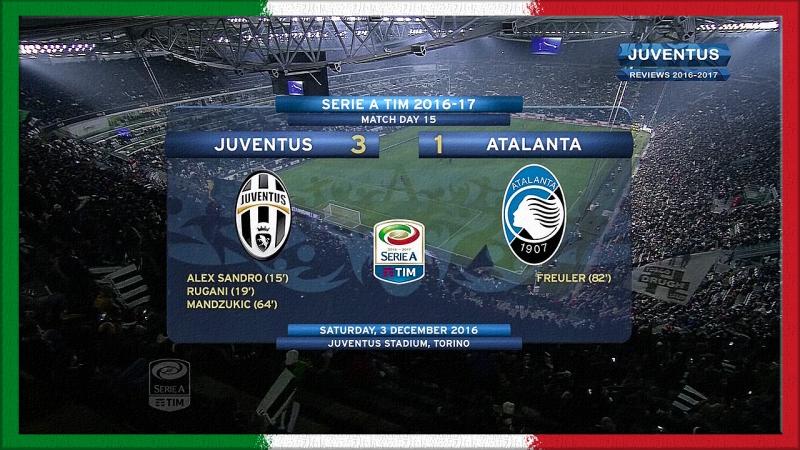 Serie A 2016-17, g15, Juve - Atalanta (RW)