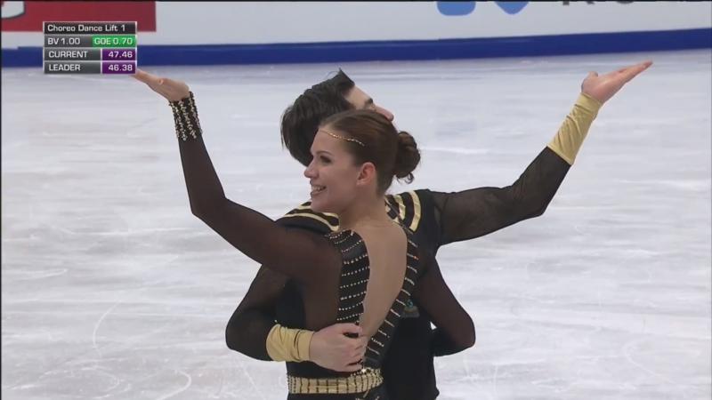 European Championships 2018. Ice Dance - FD. Alisa AGAFONOVA / Alper UCAR