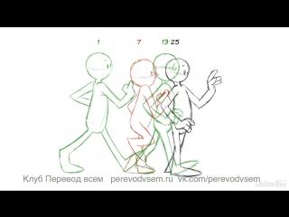 Анимация в 2D: волосы и одежда