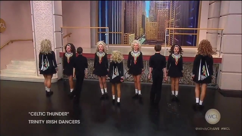 The world-champion Trinity Irish Dancers stopped by to spread some Irish cheer right before St. Patrick's day!