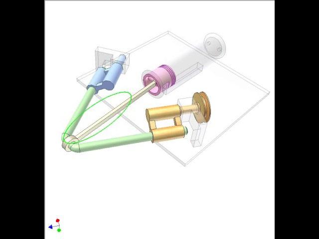 Spatial double crank slider mechanism