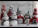 Schneemänner ganz leicht aus Socken basteln DIY Sock Snowman