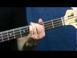 easy bass guitar song lesson smoke on the water deep purple