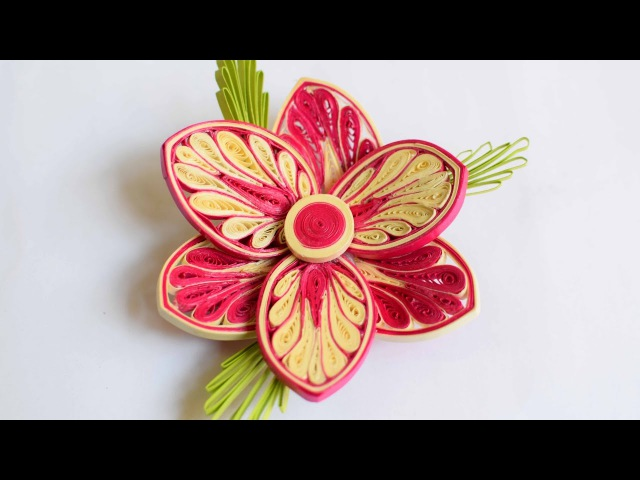 3d Quilled Flower/ Quilled Flower/ Advance Quilling