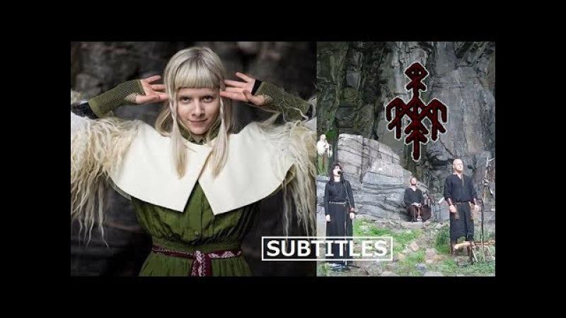 Wardruna feat. AURORA - Helvegen multi-language Lyrics/Subtitles (live at TraenaFestival2017) HD