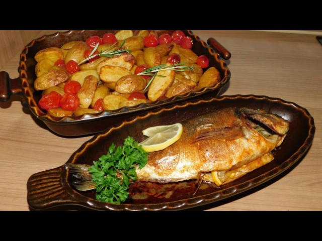 Рыба дорадо с картофелем в духовке. Самый простой и вкусный обед.
