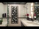 Черно-белая ванная комната шик и оригинальность