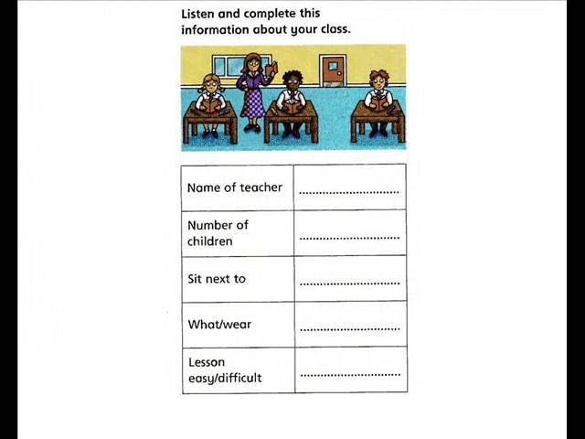 English for children. Cambridge YLE Flyers Speaking Practice (pt2) - In My Classroom