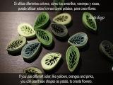 Quilled leaves- Feuilles en quilling - Hojas enrolladas de papel