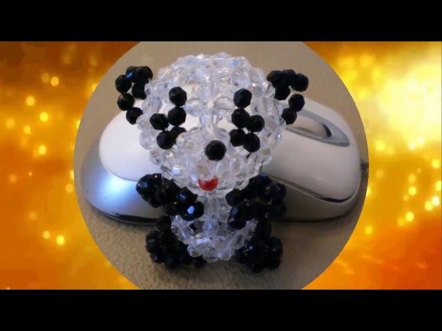 Медвежонок Панды из бусин часть 1