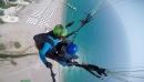 Прыжок с горы Тахталы 2365 метров над уровнем моря приземление