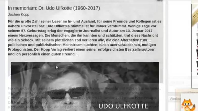 Plötzlicher Tod - Woran starb Udo Ulfkotte