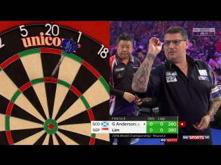 Gary Anderson vs Paul Lim (PDC World Darts Championship 2018 / Round 2)