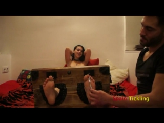 Spain tickling - Sandra Bond First time with tickled experience