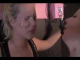 Blonde Girl Gets Spit Humiliation