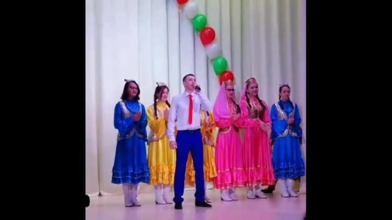 11 февраль 2018ел Эзмэ авыл жирлегенен Явлаштау м й ВЛКСМнын 100 еллыгы унаеннан куйган ижат отчет концерты