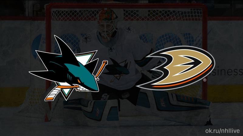 San Jose Sharks Anaheim Ducks 22 01 2018